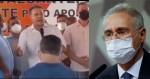 """Em plena pandemia, filho de relator da CPI fez """"discurso"""" e provocou aglomeração (veja o vídeo)"""