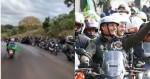 """Homem filma e se impressiona com a quantidade de participantes na motociata de Chapecó: """"Não acaba mais"""" (veja o vídeo)"""