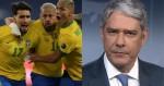Com a Copa América, SBT bate recorde e Bonner perde audiência