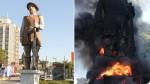 "A psicopatia ""esquerdopata"": Borba Gato cancelado e queimado... (veja o vídeo)"