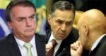 """Bolsonaro ironiza investigação do STF e acusa Barroso e Moraes de praticarem a """"ditadura da toga"""""""