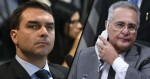 Flávio Bolsonaro vai representar contra Renan junto à PGR pelo cometimento de 20 crimes