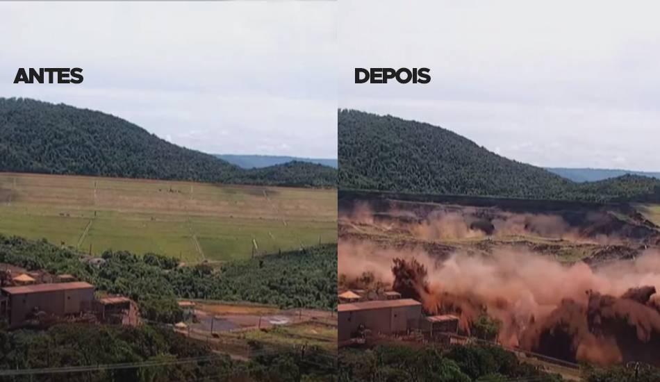Resultado de imagem para momento de rompimento da barragem de brumadinho