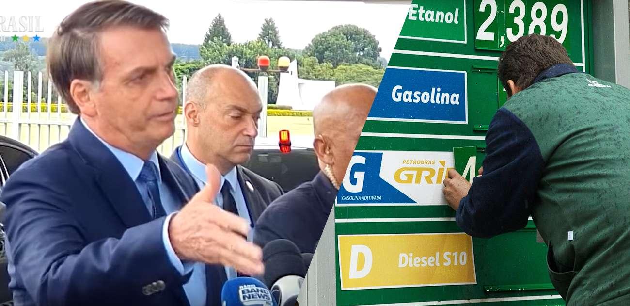 Resultado de imagem para Tirar imposto da gasolina quebra governos e promove Bolsonaro
