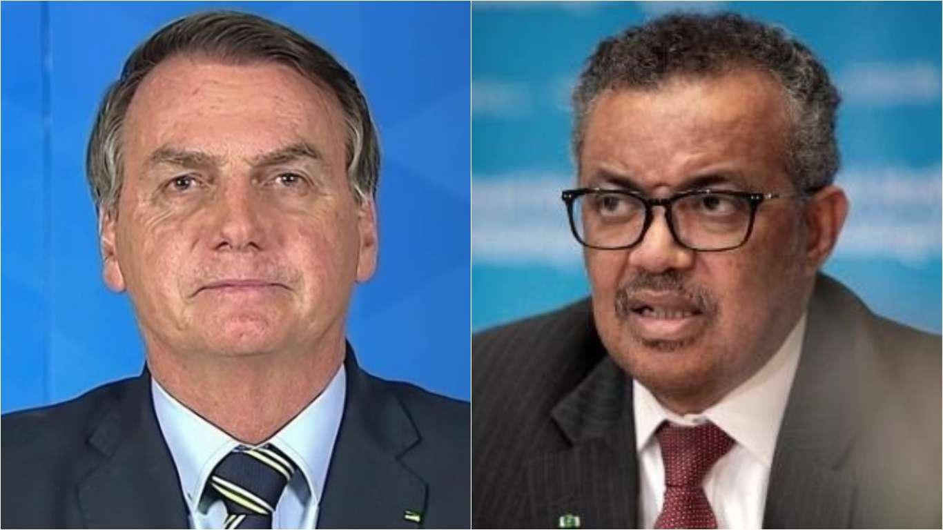 "URGENTE: ""OMS se associa a Jair Bolsonaro"", diz presidente (veja o ..."