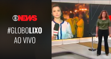 """VÍDEO: Sob gritos de """"Globo Lixo!"""", Leilane Neubarth paga mico ao vivo durante protestos contra HC de Lula"""