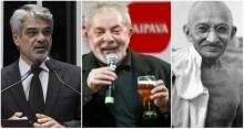Parece piada: Senador petista compara prisão de Lula com condenação de Gandhi