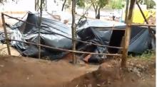 Frio, vento e chuva irrompem e destroem acampamento Marisa Letícia (Veja o Vídeo)