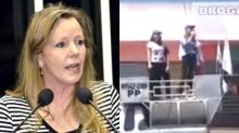 """Vanessa, a senadora do PCdoB, começa a campanha de forma melancólica, falando para o """"vento"""" (Veja o Vídeo)"""