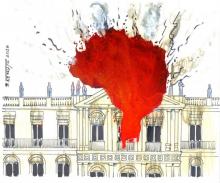 """Nossa democracia também está sendo destruída pelo """"fogo da negligência"""""""