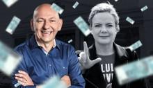 Luciano Hang quer R$ 1 milhão de indenização de Gleisi