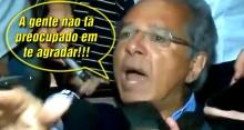 """Paulo Guedes perde a paciência com jornalista: """"A gente não tá preocupado em te agradar"""" (veja o vídeo)"""
