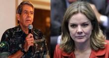 "General Heleno responde a ataques da imprensa ""esquerdopata"" e de Gleisi Hoffmann"
