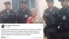 Bolsonaro elogia PMs que salvaram idosa feita refém por marginal no RJ