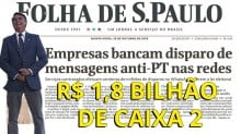 Folha, infame, agora diz que foi o PT que impulsionou ilegalmente candidatos