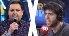 """Caio Coppola, da Jovem Pan, para Faustão, da Globo: """"O Lula tá preso babaca"""" (Veja o Vídeo)"""