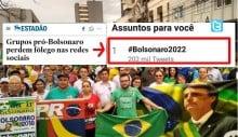Estadão aponta queda de Bolsonaro nas redes sociais e reação é imediata