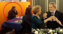 """Flagrante: Bolsonaro dispensa cartão corporativo e almoça """"bandejão"""" em Davos"""