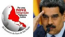 Foro de São Paulo faz reunião extraordinária em Caracas para apoiar Maduro