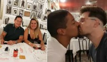 Casal gay tenta constranger Mourão, mas se frustra