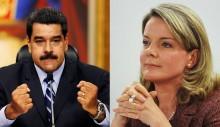 Gleisi e Maduro: a usina de besteirol e o bigode sem cabeça (veja o vídeo)