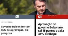 Ibope é desmascarado em pesquisa sobre o percentual de aprovação de Bolsonaro