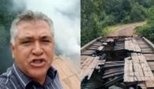 Proprietário rural indignado denuncia ateamento de fogo em ponte por índios no Mato Grosso (veja o vídeo)