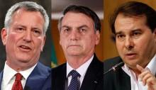A deplorável 'defesa' de Rodrigo Maia a Bolsonaro sobre insultos do prefeito comunista de NY