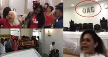 """Evento na OAB tem """"Moro na cadeia"""", gritos de """"Lula livre"""" e apoio a Felipe Santa Cruz (Veja o  Vídeo)"""