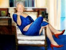 """Em quadro encontrado na mansão de Jeffrey Epstein, a imagem de Bill Clinton """"Drag Queen"""""""