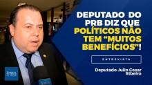 """TV JCO - Deputado Julio Cesar Ribeiro (PRB-DF) diz que políticos não têm privilégios: """"Nós trabalhamos muito"""". Você concorda? (Veja o vídeo)"""