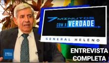 Entrevista exclusiva - General Augusto Heleno, um extraordinário patriota (Veja o vídeo)