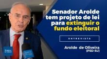 Arolde de Oliveira, o senador que desbancou César Maia e Lindinho, tem projeto de lei para extinguir o fundo eleitoral (Veja o vídeo)