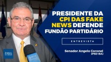 """Presidente da CPI das fake news defende Fundão Partidário: """"Sou a favor e irei lutar para que fique em vigor!"""" (Veja o Vídeo)"""