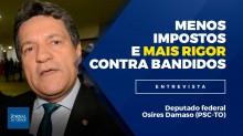 Menos impostos nas costas do brasileiro e ação rigorosa contra bandidos, defende deputado (Veja o vídeo)