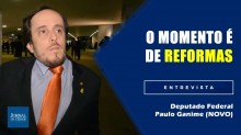 """Paulo Ganime: """"A população manda mais no que acontece no Congresso e na política brasileira"""" (Veja o vídeo)"""
