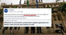 Casal é agredido por militantes de esquerda em discussão sobre Escola Sem Partido na USP (Veja o Vídeo)