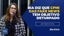 Para Bia Kicis, CPMI das Fake News quer forçar 3º turno das eleições de 2018 (veja o vídeo)