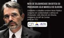 36 entidades assinam nota de solidariedade ao Procurador Júlio Marcelo