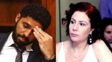 Covarde, marido de Glenn se levanta de forma ameaçadora contra Carla Zambelli (veja o vídeo)