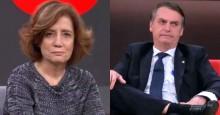 Miriam Leitão ataca e ofende Bolsonaro. A mágoa permanece. Saiba a razão de tanto ódio (veja o vídeo)