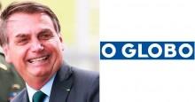 """Manchete de O Globo sobre """"demissão de Moro"""", mostra o quanto a mentira tem perna curta e Bolsonaro ironiza"""