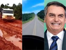 Caminhoneiro grava vídeo agradecendo Bolsonaro pelas obras na Transamazônica e viraliza na internet (veja o vídeo)