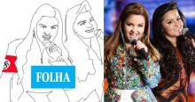 Covardia com Maiara e Maraísa: Folha publica ilustração das cantoras com suástica, leia nota de repúdio