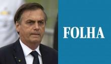 """Bolsonaro detona Folha de S.Paulo: """"Credibilidade abaixo do esgoto, no pré-sal do chorume"""""""