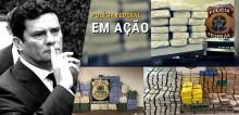 Sergio Moro causa prejuízo milionário ao crime organizado e Bolsonaro comemora