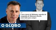"""Carniceiro, Lauro Jardim de """"O Globo"""" usa morte de Bebbiano para atacar Bolsonaro"""