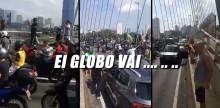 Povo paulista rompe o isolamento para vaiar e desmoralizar João Dória e a Rede Globo (veja o vídeo)