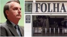 "Bolsonaro novamente desmascara a Folha e sentencia: ""A Folha sobrevive de mentira"""