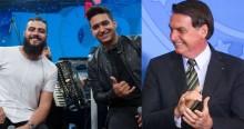 """Em live, Henrique & Juliano se despedem dizendo: """"Brasil acima de tudo e Deus acima de todos"""" (veja o vídeo)"""